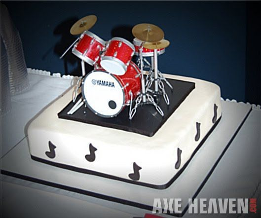 Excellent Miniature Drum Cake Decoration By Axe Heaven Drum Birthday Cakes Funny Birthday Cards Online Bapapcheapnameinfo