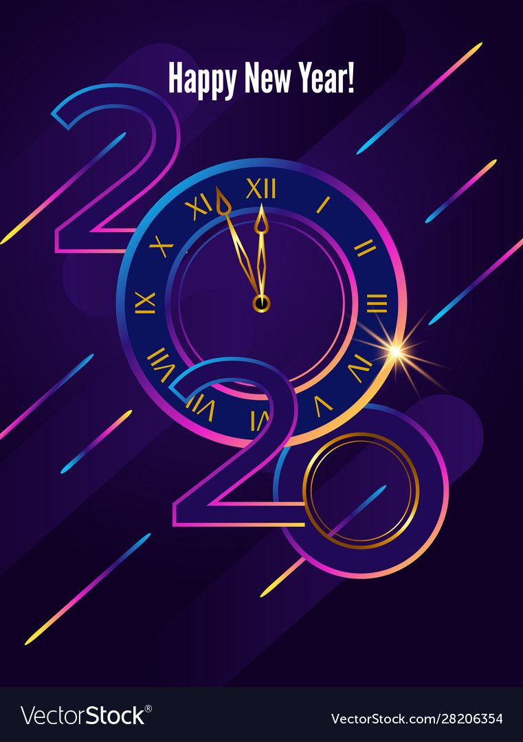 Poster 2020 happy new year christmas flying vector image