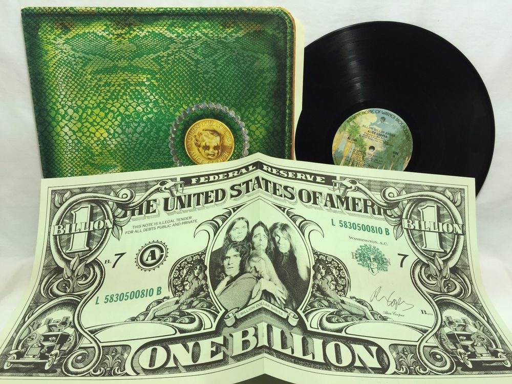 Alice Cooper Billion Dollar Babies Bs 2685 Lp Vinyl Record Billion Dollar Bill Vinyl Records Billion Dollar Babies Lp Vinyl