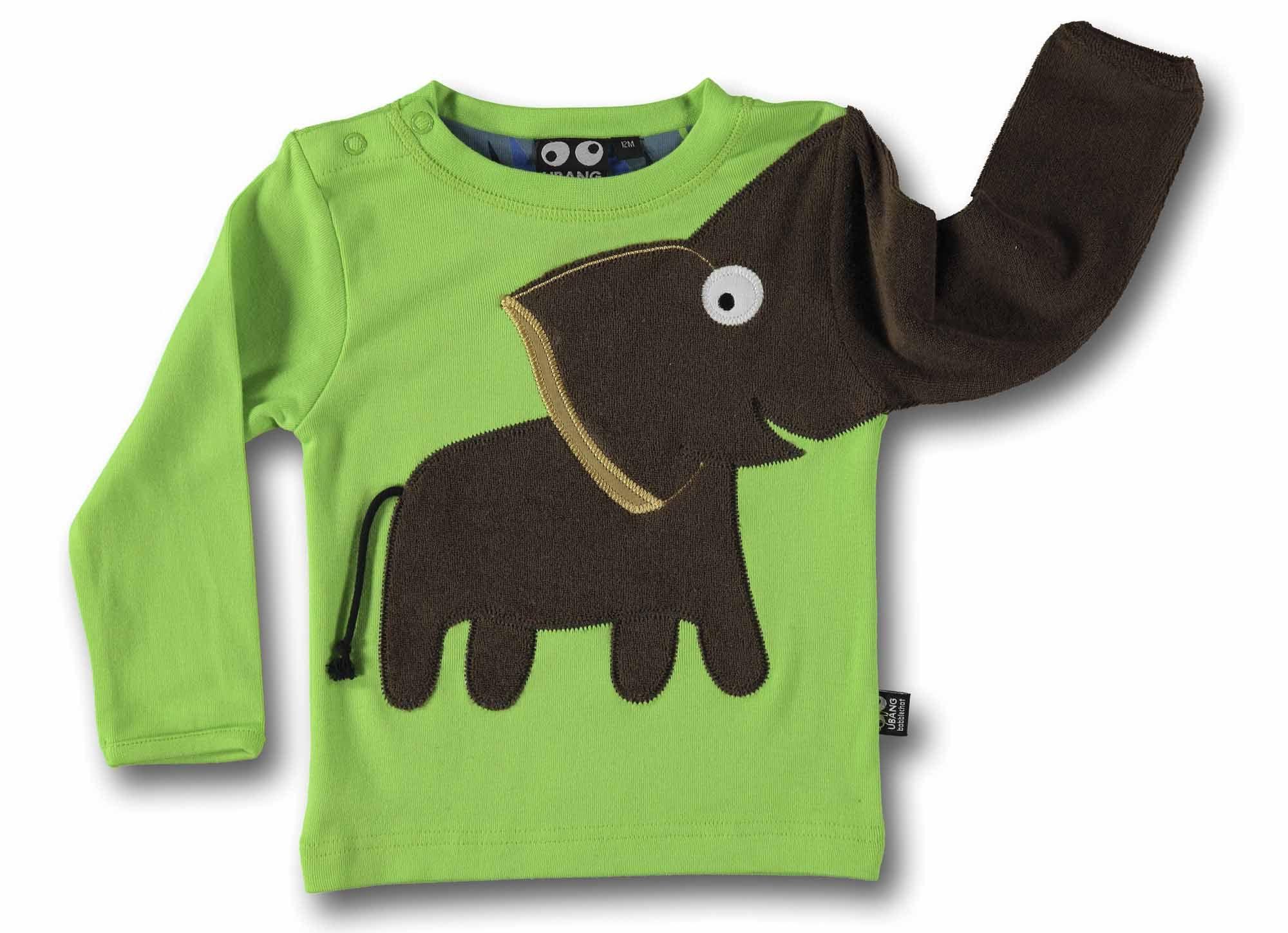imagen principal de Camiseta bebé Elefante verde