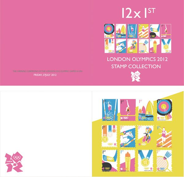 London Olympics 2012 Stamps by Charlotte Estelle Littlehales, via Behance