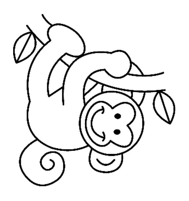 Coloriages animaux singe 08 coloriage pinterest - Dessin de singe facile ...