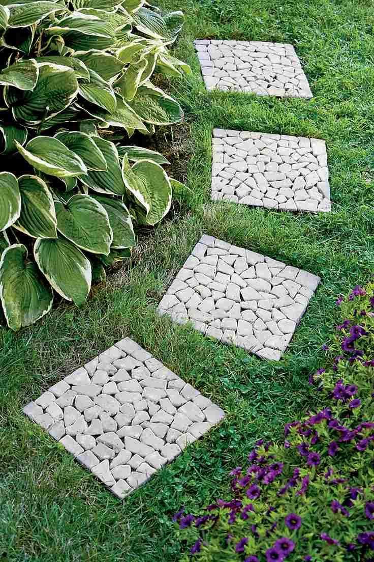 25 ides de design moderne pour votre chemin de jardin - Pierre De Jardin Decorative