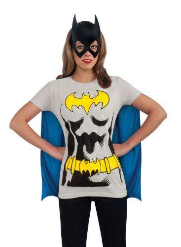 Batman T-Shirt Mask DC Comics Superhero Fancy Dress Up Halloween Adult Costume