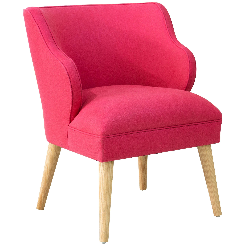 Sensational Skyline Furniture Fuschia Linen Viscose Modern Chair Linen Machost Co Dining Chair Design Ideas Machostcouk