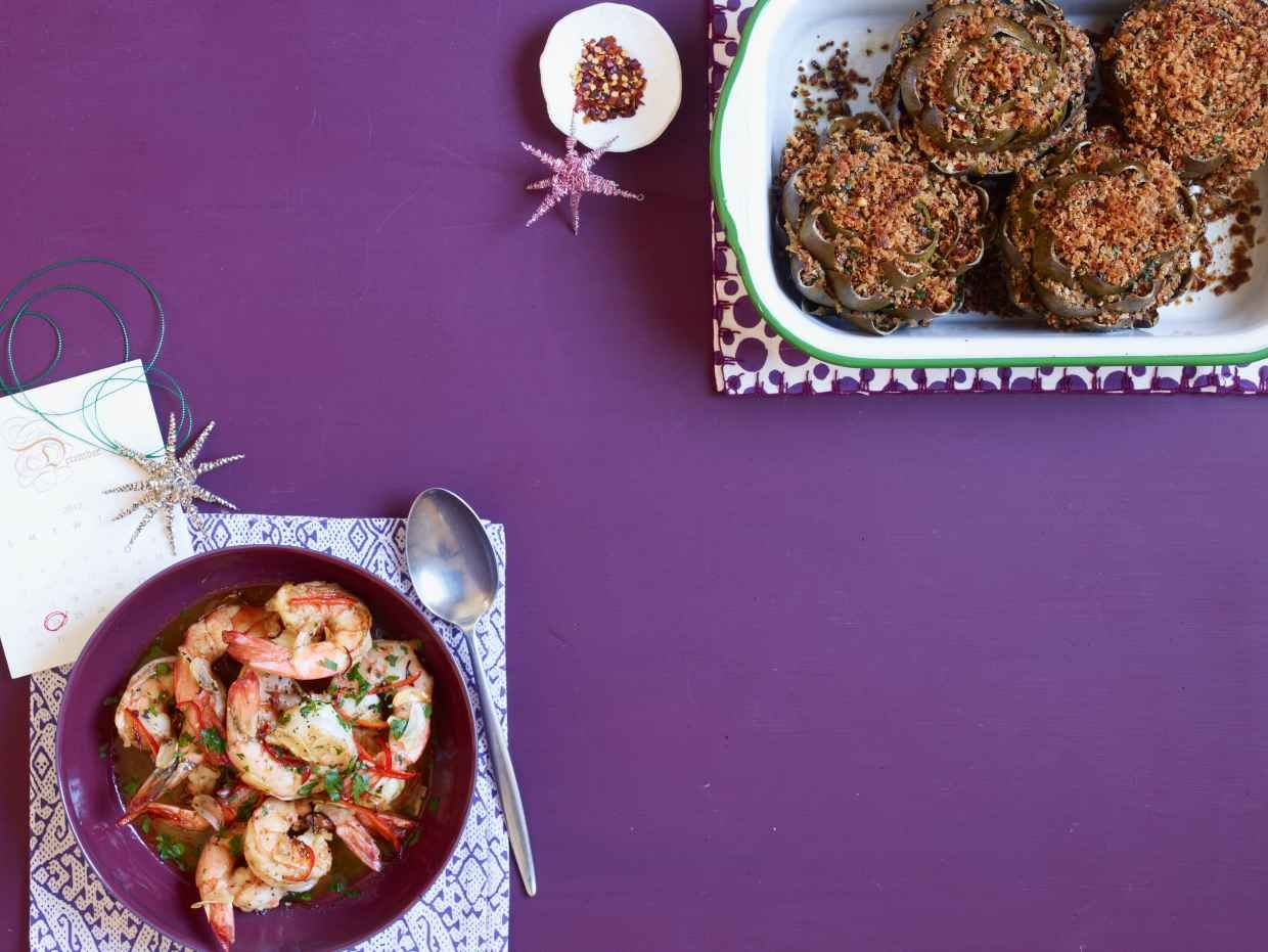Shrimp with Chile-Lemon Butter - Rachael Ray Every Day