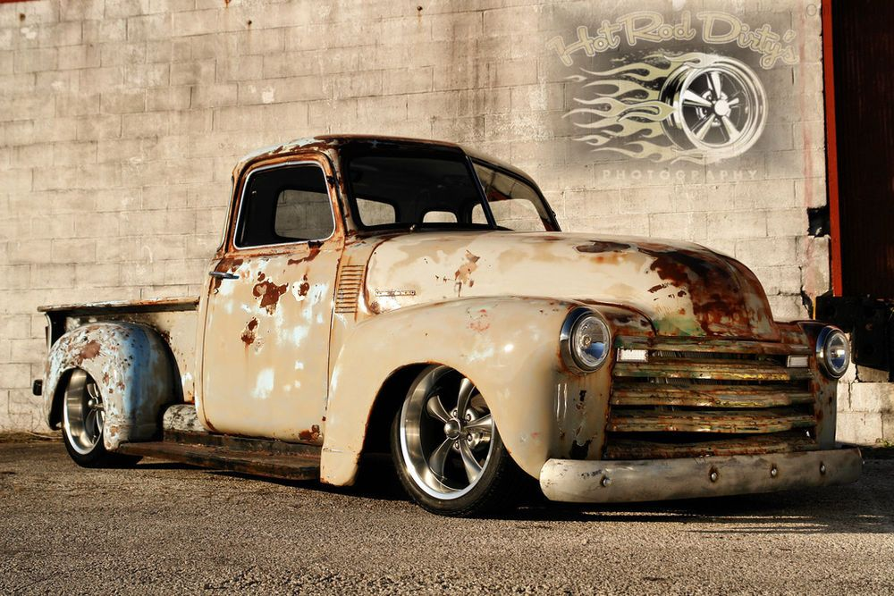 Chevrolet : C-10 Slammed Suspension 3100 Hot Rod Patina Shop Truck ...