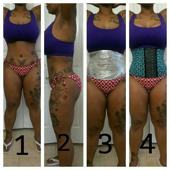 My Personal Before Wrapping Last Night Shrink Your Belly
