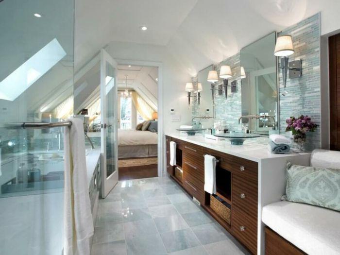 Candice Olson Bathroom Design Classy Marbre Et Bois Dans Une Salle De Bains  Intérieur Scandinave Design Decoration