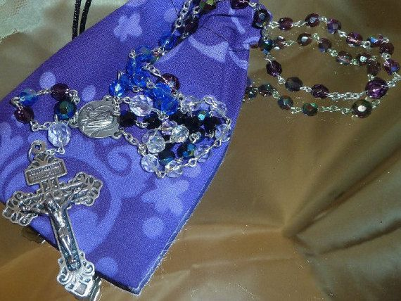 Holy Souls    5 Decade Rosary by TheCatholicRosary on Etsy