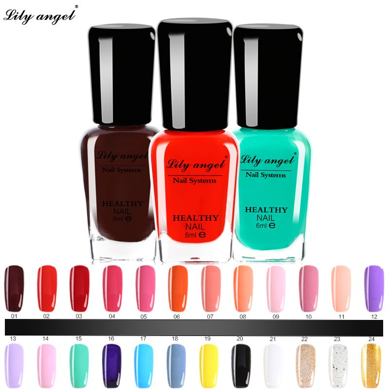 Lily angel 6ml Colorful Waterborne Nail polish Gel Paint Peel off ...