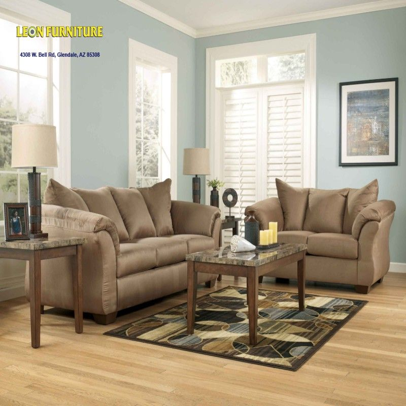 Darcy Mocha 75002 7 PC Living Room Collection