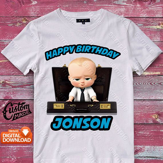 Boss Baby Iron On Transfer Birthday Shirt DIY Designs Printable The Personalize Digital