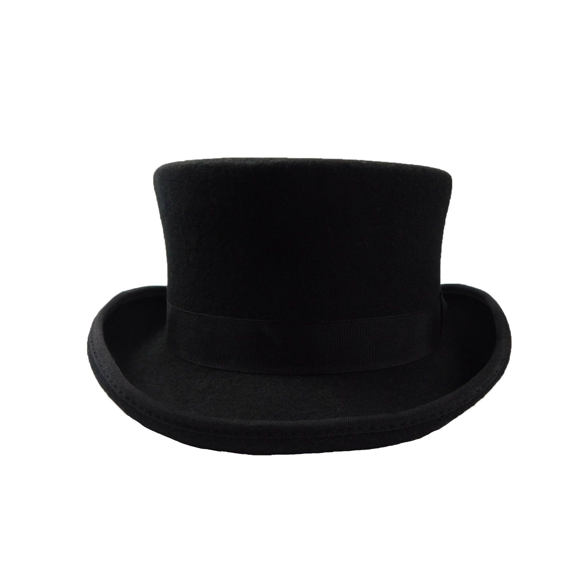 Classic Short Brown Wool Felt Top Hat By Jsa For Men Steampunk Diy
