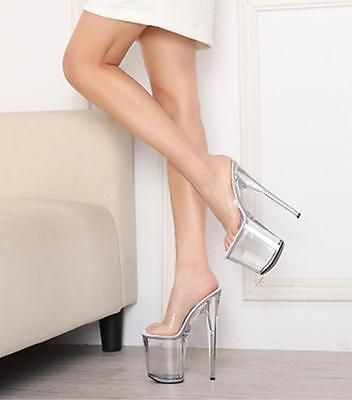 ae192d14778 New Fashion Women Clear Transparent Crystal Platform Super High Heels Prom  Shoes