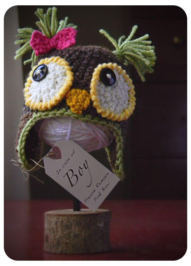 gorro bb buho | Búhos de ganchillo | Pinterest | Gorros, Tejido y Owl