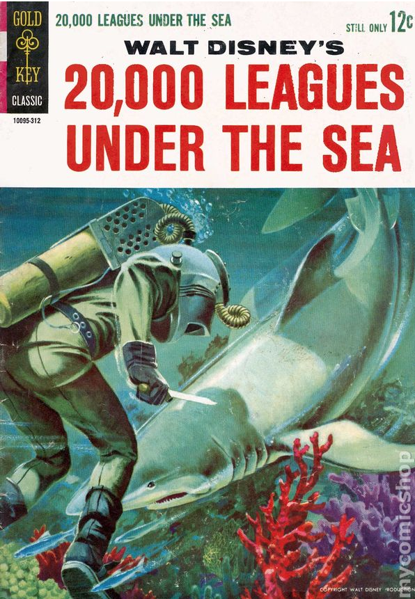 20 000 Leagues Under The Sea 1963 Movie Comics Comic Books Leagues Under The Sea Comics Under The Sea