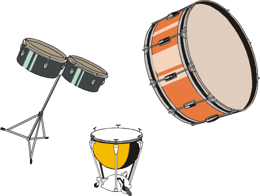 Units produce percussion instruments