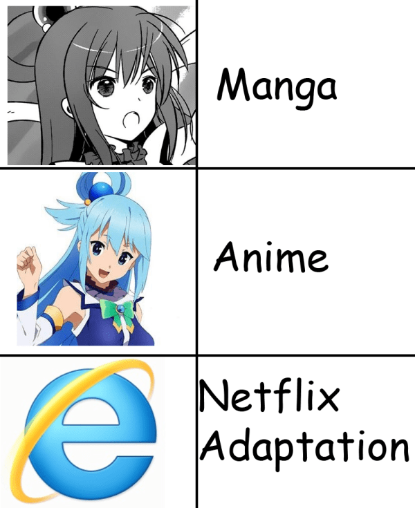 Netflix adaptation meme Posts Anime