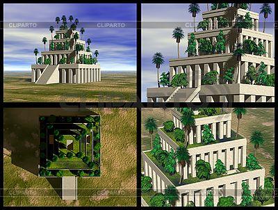 Hangende Garten Von Babylon 3d Rekonstruktionen Illustration Mit Hoher Auflosung Id 3045832 Hangende Garten Von Babylon Hangender Garten Garten