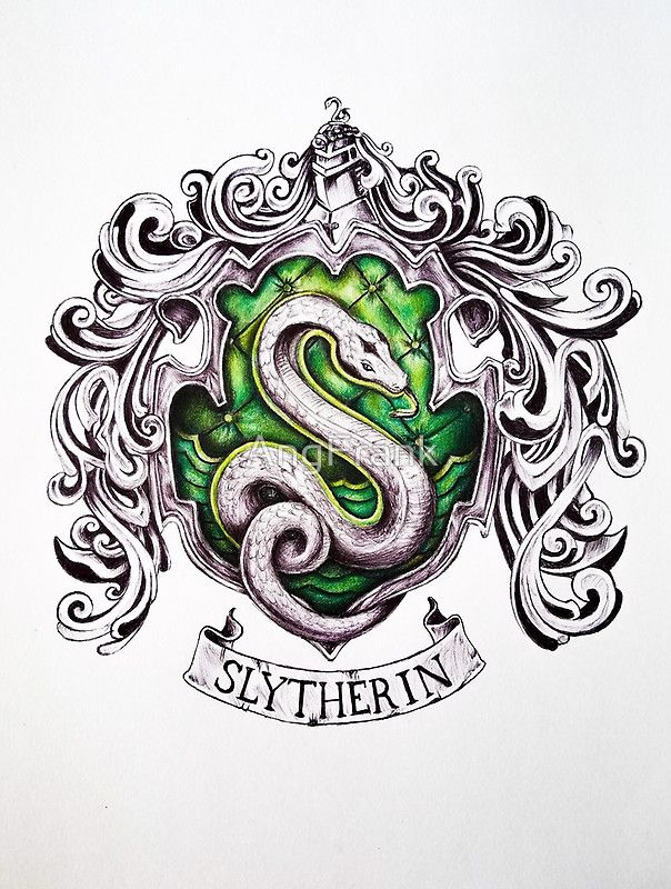 Slytherin House Crest by AngFrank on RedBubble
