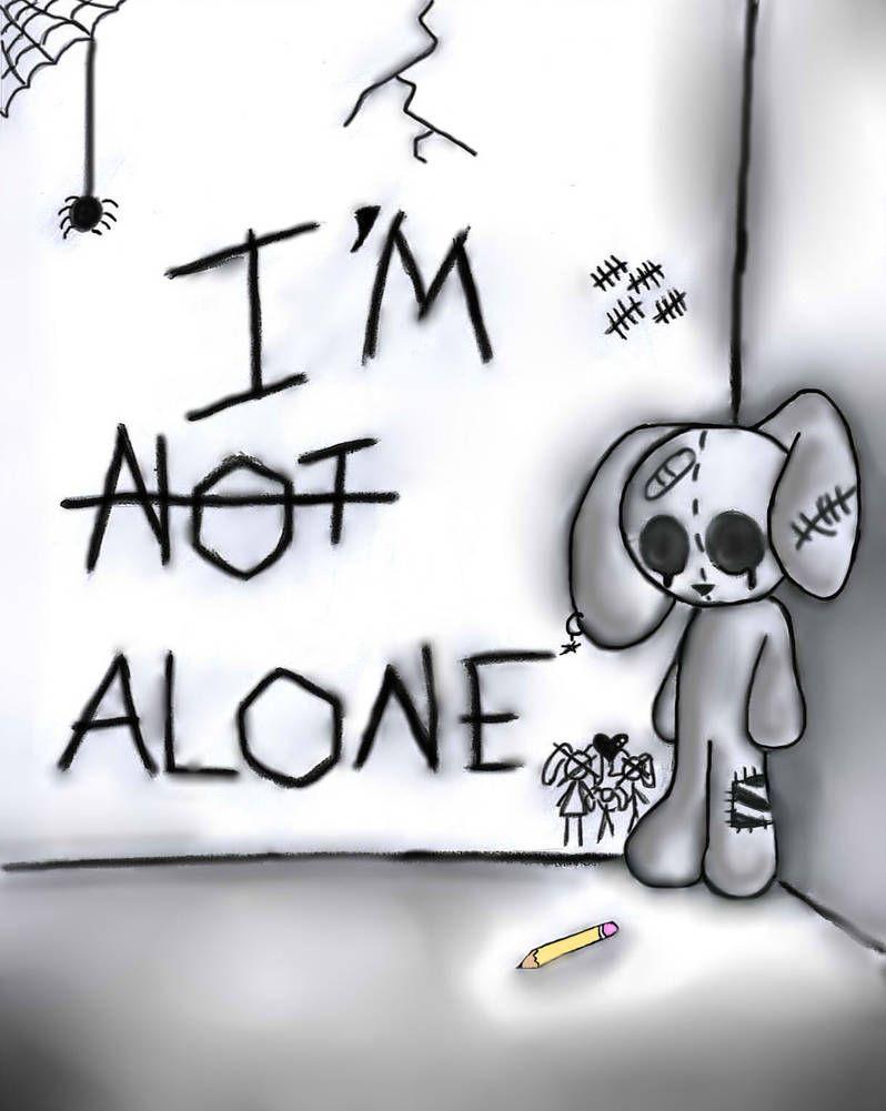 Poor Emo Bunny by SweetlyEvil92