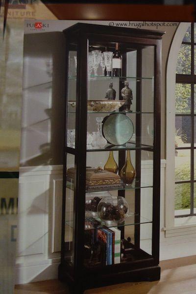 Pulaski Cambridge Sliding Door Curio Cabinet Costco Frugalhotspot