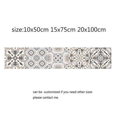 Photo of Arabic Style Mosaic Tile Stickers For Living Room Kitchen Retro 3D Waterproof Mural Decal Bathroom Decor DIY Adhesive Wallpaper – 9 / 20x100cm