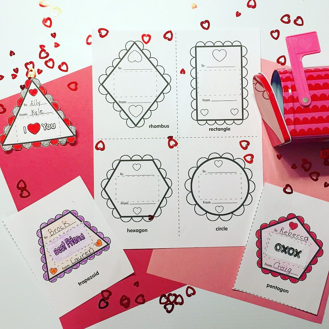 Create A Valentine Shapes All Around