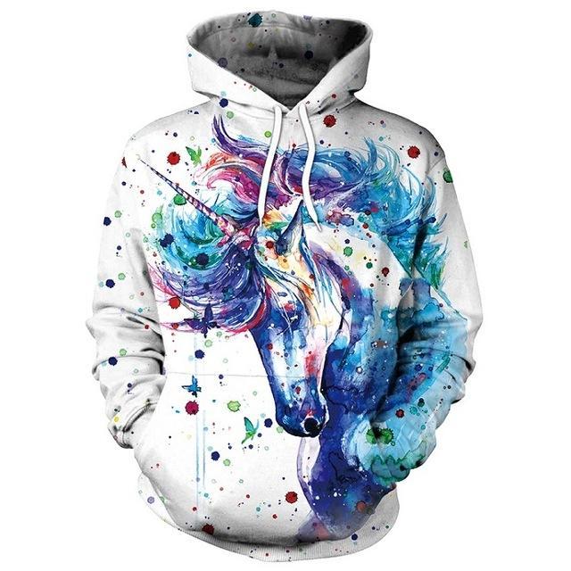 Unicorn Printed Hoodies   Kapuzenpullover, Kapuzenpulli und