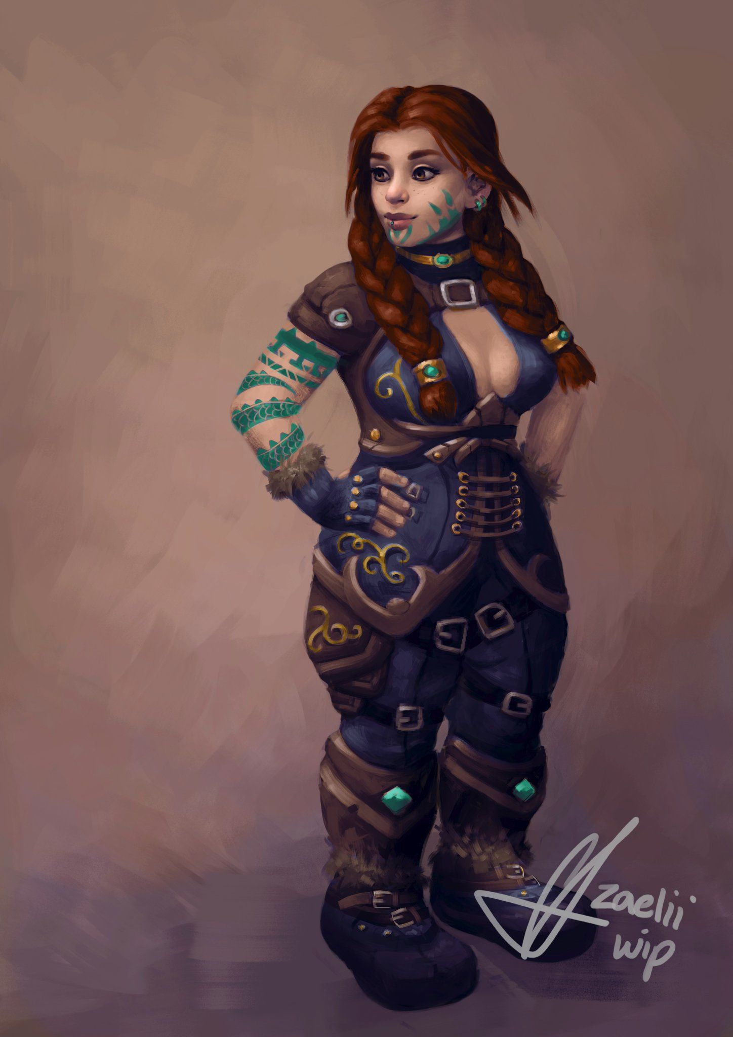 This Concept Art Makes Me Want To Play Dwarf Female Which Has Never