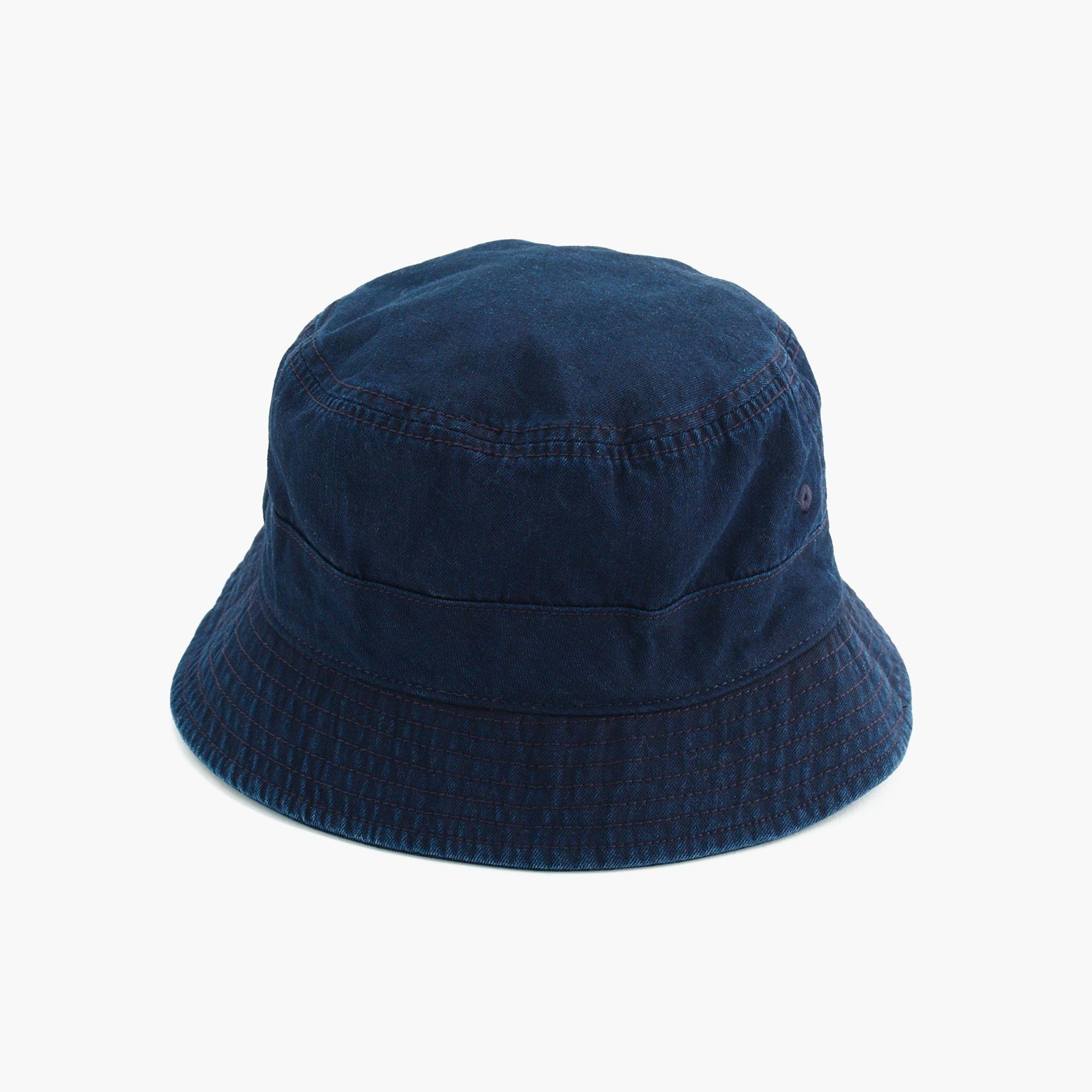 Japanese Cotton Bucket Hat In Indigo Japanese Cotton Hats Mens Accessories