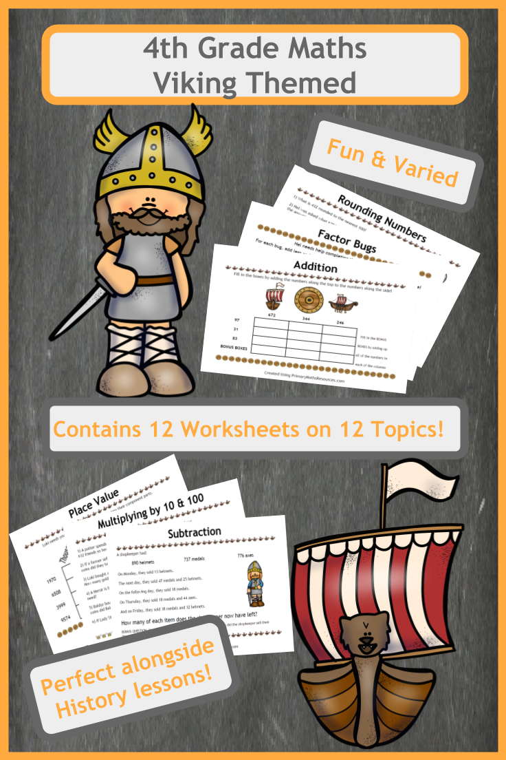 Viking Themed Maths Worksheets 4th Grade Math Worksheet Addition And Subtraction Worksheets Math [ 1104 x 736 Pixel ]