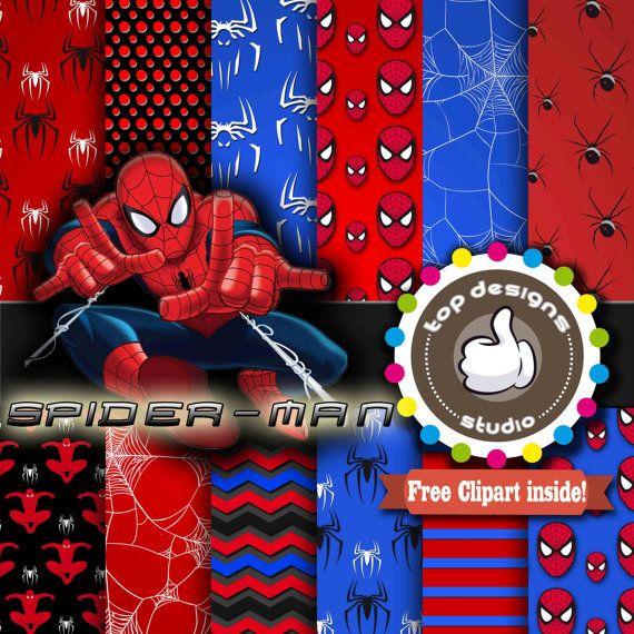 sale spiderman digital paper    u0026quot spiderman digital paper