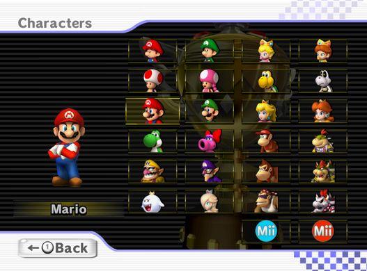 original mario kart all characters