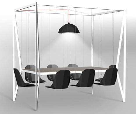 Duffy London S Swing Table Makes Meetings More Fun Unique Dining
