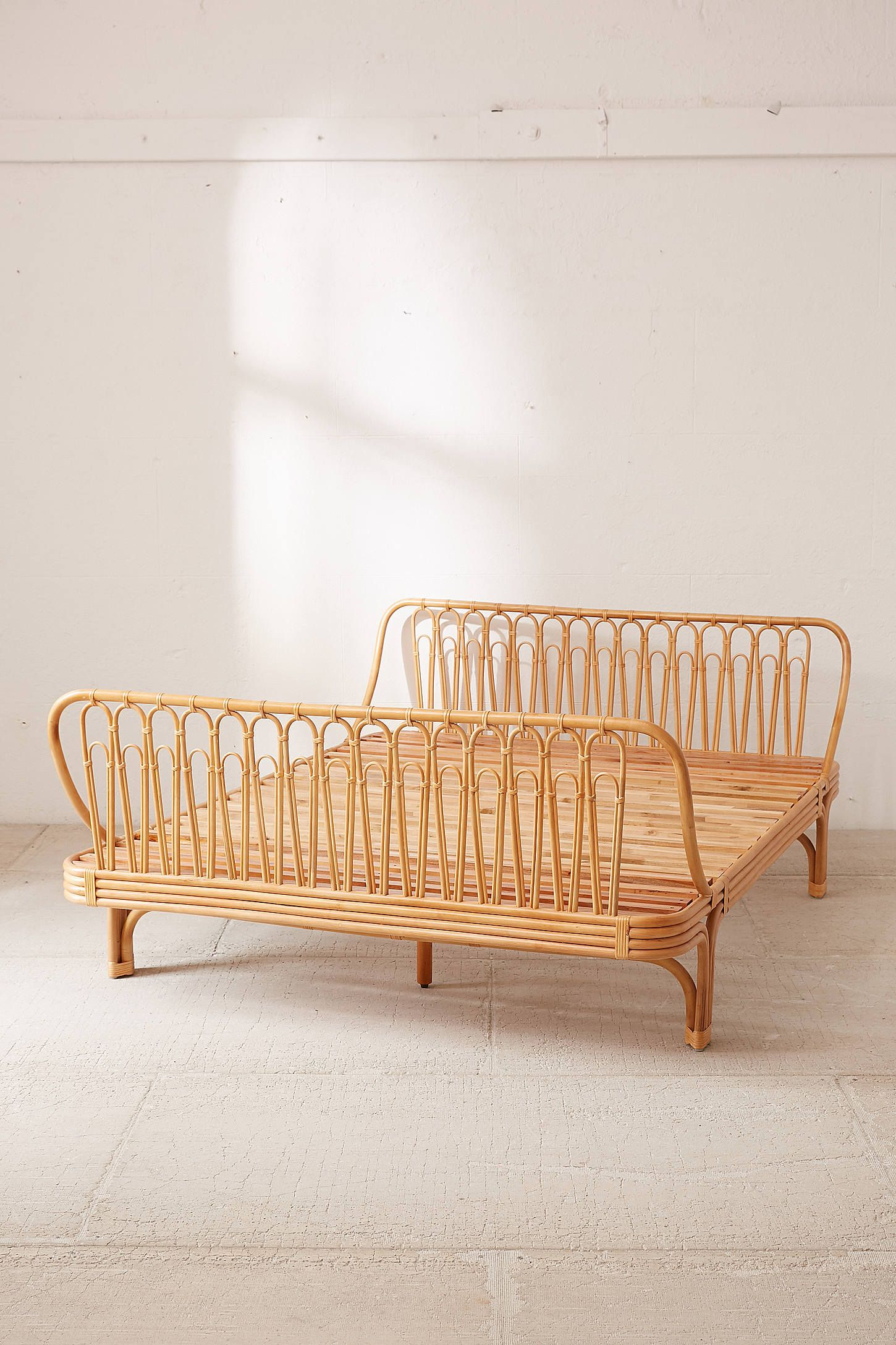 Canoga Rattan Bed Rattan Bed Apartment Furniture Furniture