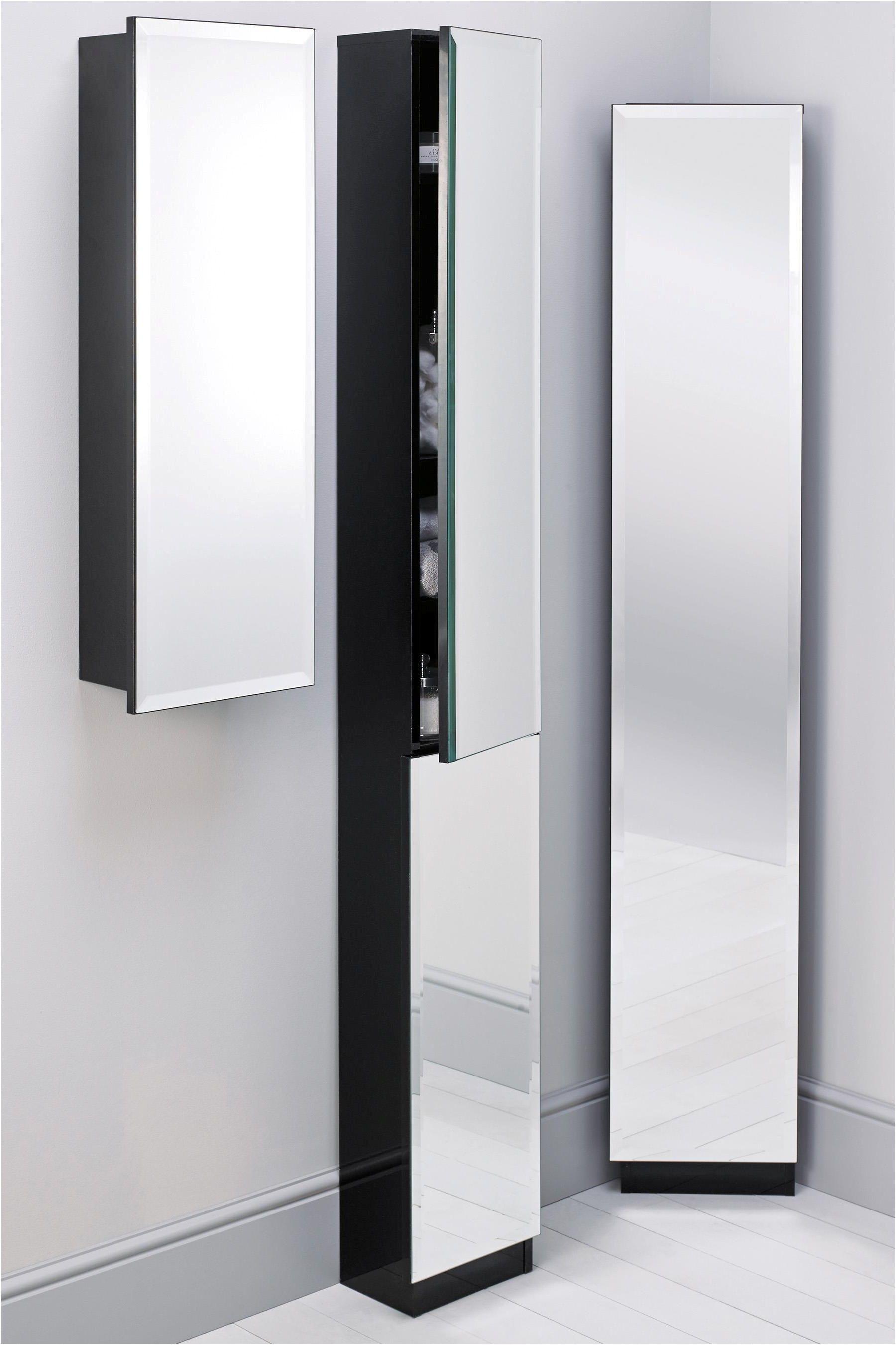 mirror design ideas tall ideas mirrored corner bathroom cabinet from ...