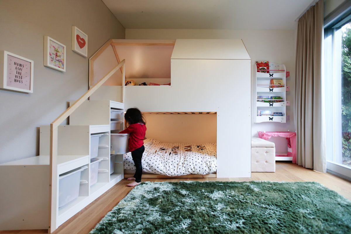 Etagenbett Hack : Kura hack white home in betten kinderzimmer