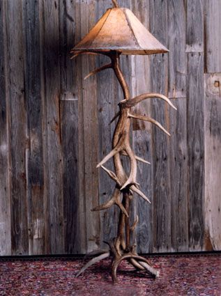 Elk Antler Floor Lamp Galhos Secos