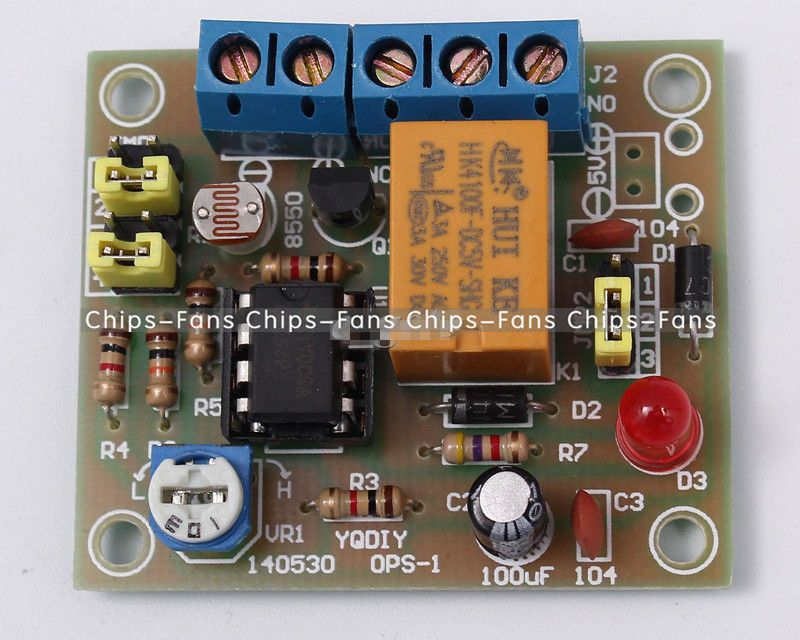 DIY Kit Light-Operated Switch Kit With 5V Relay LM393 Electronic Funny DIY