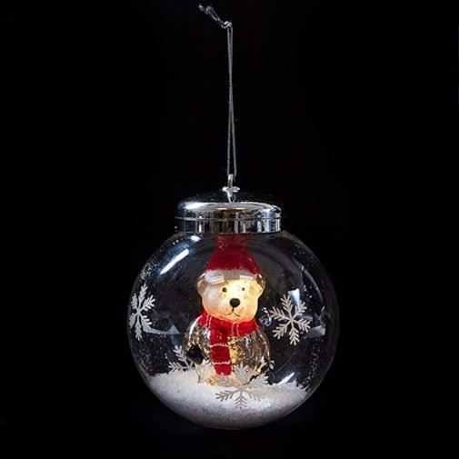 Led Light Up Ornament Hanging Christmas Bauble Decoration Polar Bear Christmas Baubles Led Lights Christmas Bulbs