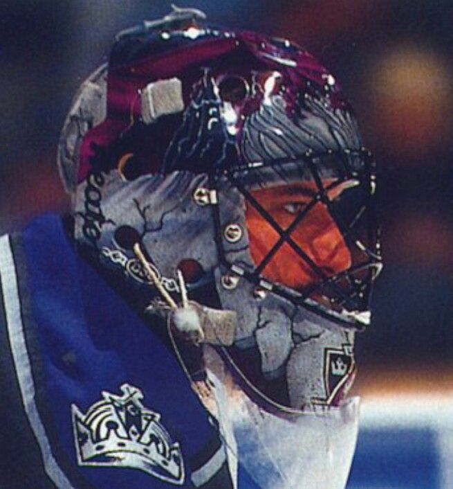Stephane Fiset Later On After The King Tut Mask Kings Hockey Goalie Mask King Tut Mask