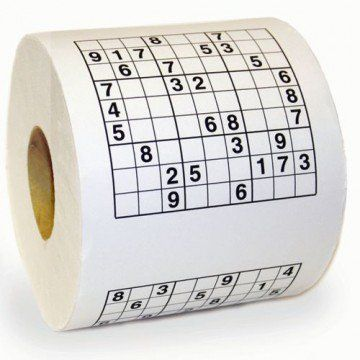 Papel higiénico de Sudokus  - Tienda de regalos originales QueLoVendan.com