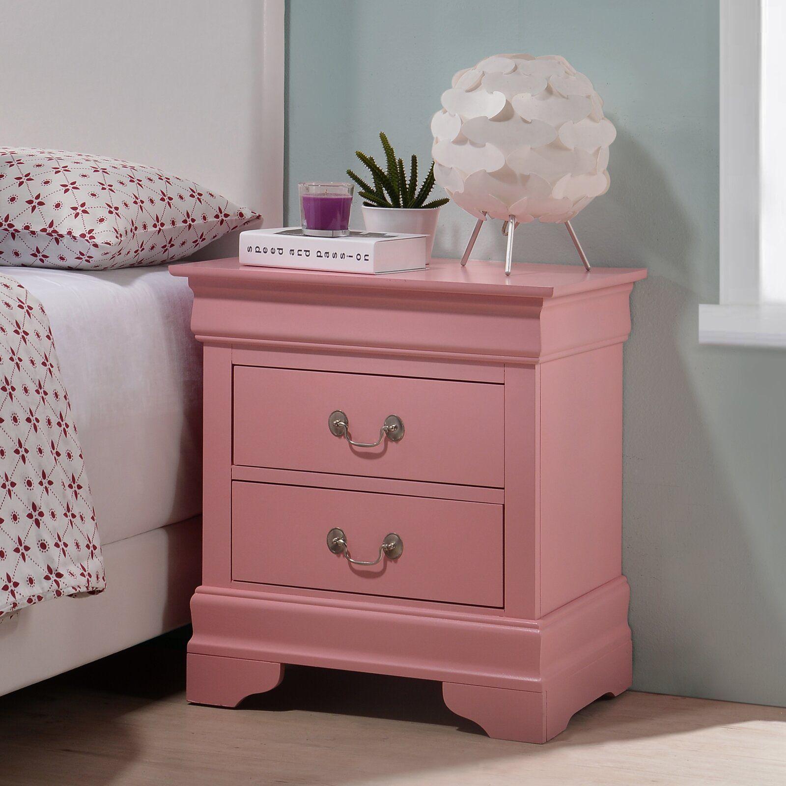 Babcock 2 Drawer Nightstand 2 Drawer Nightstand Oak Bedroom