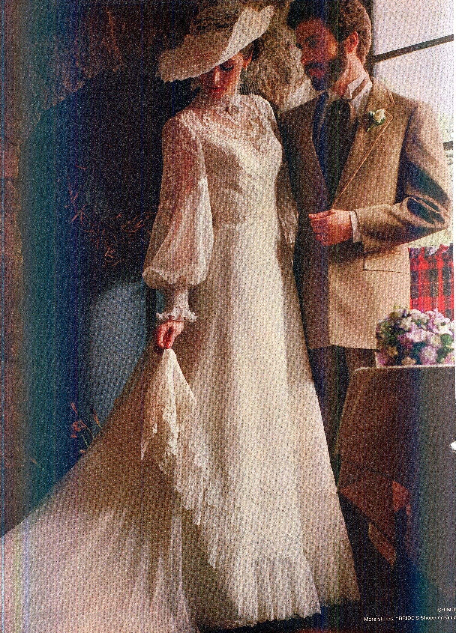 Vestiti Da Sposa 1980.1980 Wedding Gown Abiti Da Sposa Sposo Vintage