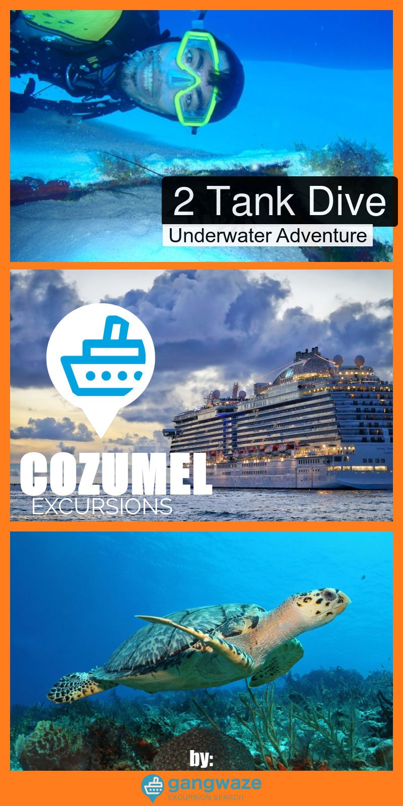 2 Tank Scuba Diving Trip Cruise Excursion Cozumel Cruise Port