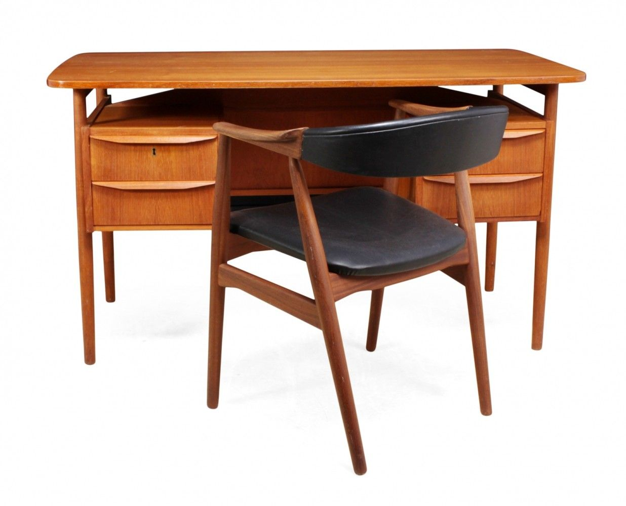 Teak Desk Chair By Tibergaard C1960 Mobili