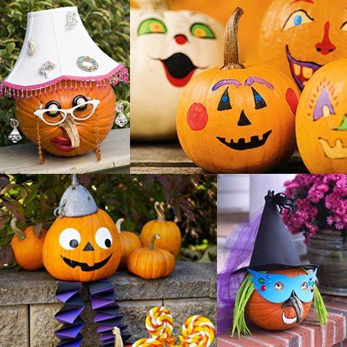 Calabazas creativas y divertidas para halloween calabazas hallowen pinterest calabazas - Calabazas de halloween pintadas ...