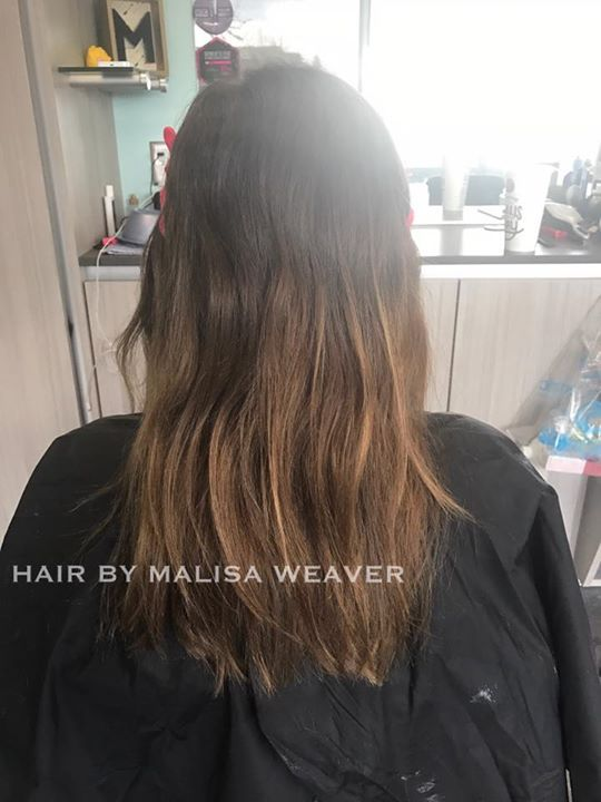 Before After Thatblend Blended Balayage Highlights